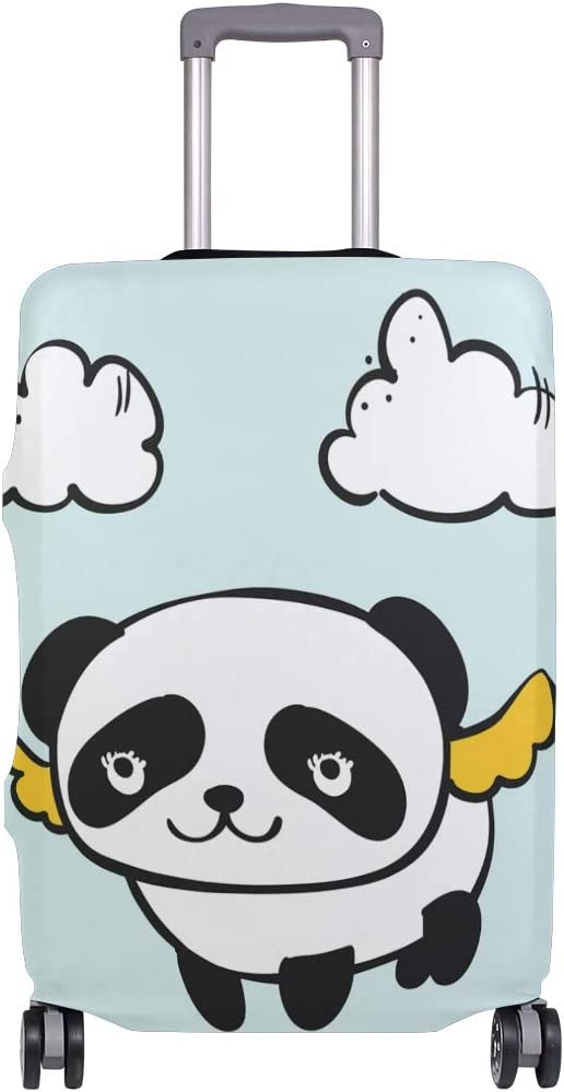 Blue Viper Doodle Cute Panda Wing Luggage Protective Cover Suitcase Protector Fits 29-32 Inch Luggage