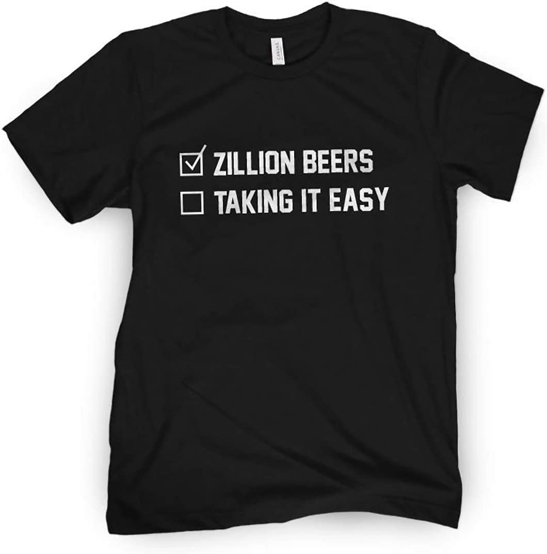 Black, Medium Zillion Beers Checklist Tee
