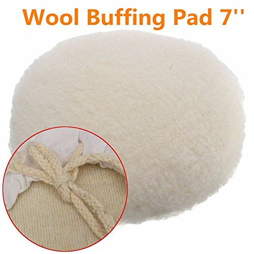 (Doradus 7 Inch Polisher Buffer Soft Wool Bonnet Pad with Loop for Polishing Buffing)