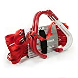 Emergency Fire Escape Ladder Two-Story (13-Foot Long) - 'V' Center Support, Flexible & Sturdy Design With Wide Steps.
