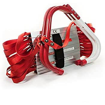 """Emergency Fire Escape Ladder Two-Story (13-Foot Long) - """"V"""" Center Support, Flexible & Sturdy Design With Wide Steps."""