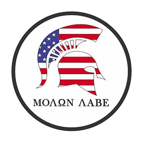 Molon Labe Circle Spartan Helmet Usa Flag Vinyl Sticker Decal