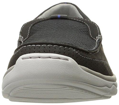 CLARKS Men's Marus Step Slip-On Loafer, Black, 8 W US