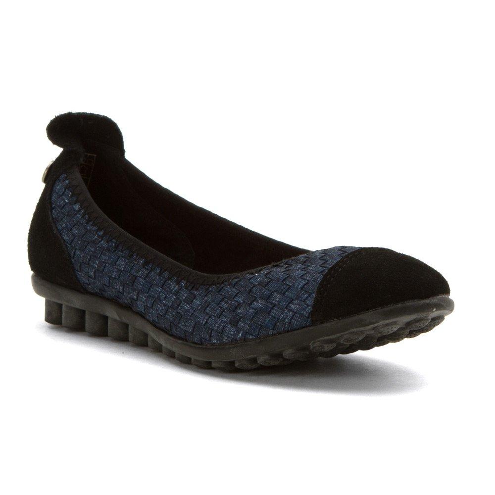Bernie Mev Women's, Bella Me Slip on Flats Jeans 3.8 M