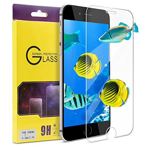 """Fits Apple Iphone (iPhone 7 Screen Protector, ATGOIN Tempered Glass [0.2mm, 2.5D][No Bubble] 9H Hardness Screen Protector Fit for Apple iPhone 7 & iPhone 6/6s 4.7"""" Clear)"""