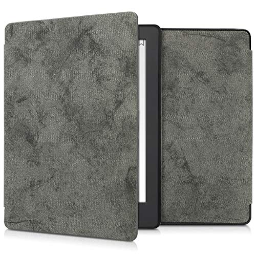 kwmobile Case for Kobo Aura H2O Edition 2 - Book Style PU Leather Protective e-Reader Cover Folio Case - Grey by kwmobile