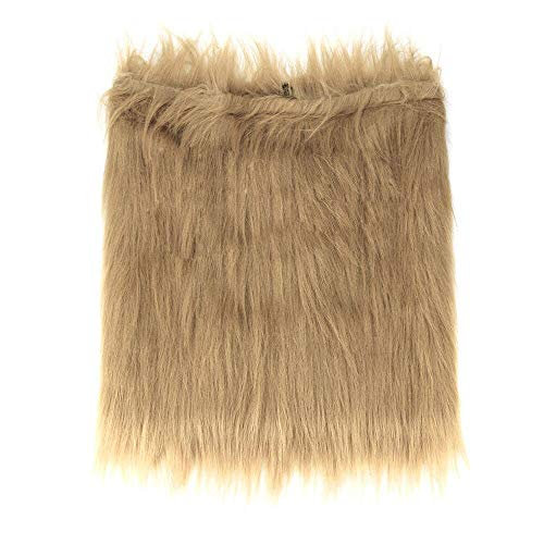 callm Dog Cosplay Fake Lion Mane for Dog Costume Halloween Christmas Party with Gift Lion Wig (Coffee, L)