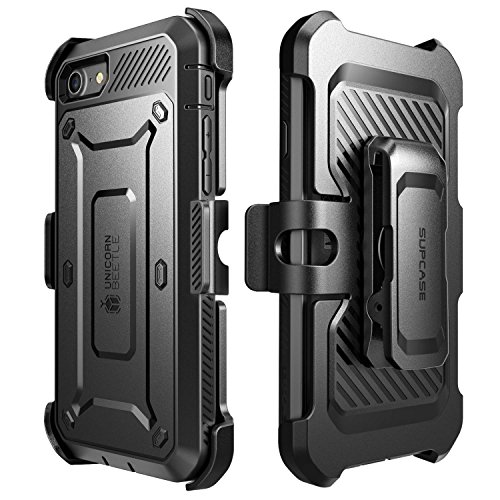iPhone 8 Case, SUPCASE Full-body Rugged Holster Case with Built-in Screen Protector for Apple iPhone 7 2016/iPhone 8 (2017 Release), Unicorn Beetle PRO Series - Retail Package (Black/Black) by SUPCASE (Image #6)