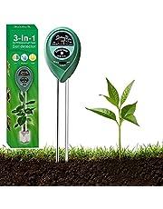 Soil Moisture Meter, 3-in-1Large Screen Soil Moisture/Sunlight/pH Tester Backyard Soil Test kit with Moisture, Light and PH Test for Garden, Farm, Lawn, Indoor & Outdoor
