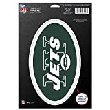 NFL New York Jets 83766010 Die Cut Logo Magnet, Small, Black