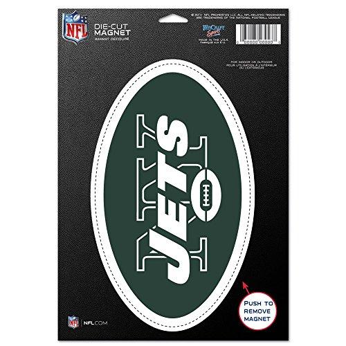 WinCraft NFL New York Jets 83766010 Die Cut Logo Magnet, Small, Black