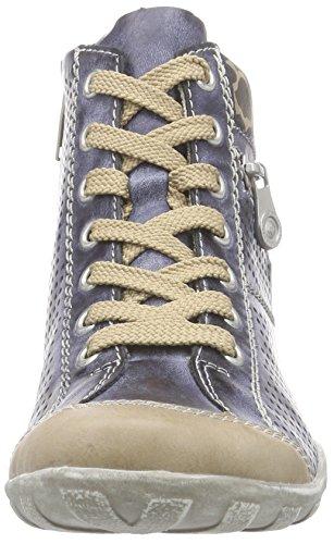 Rieker L6506 Damen Kurzschaft Stiefel Blau (muschel/jeans/elefant / 62)