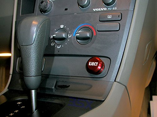 3SX Eject Button RED 12-Volt Accessory/Lighter Insert Ejection Seat Button (Non-Functional) Fits Most Vehicles