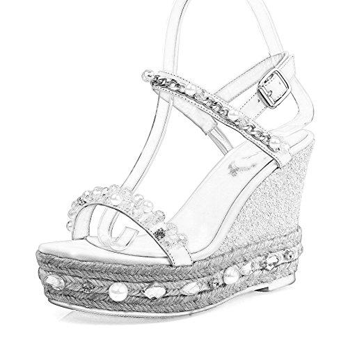 WSS chaussures à talon haut Sandales de cuir de paille à la main strass estivale populaire!