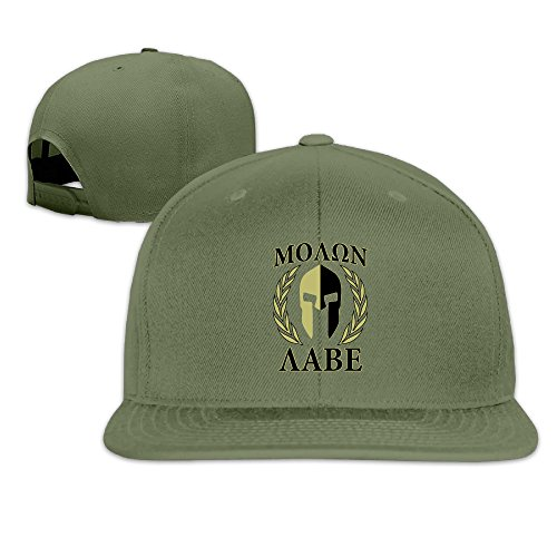 Price comparison product image Molon Labe Olive Laurels Mask Flat Brim Baseball Cap ForestGreen