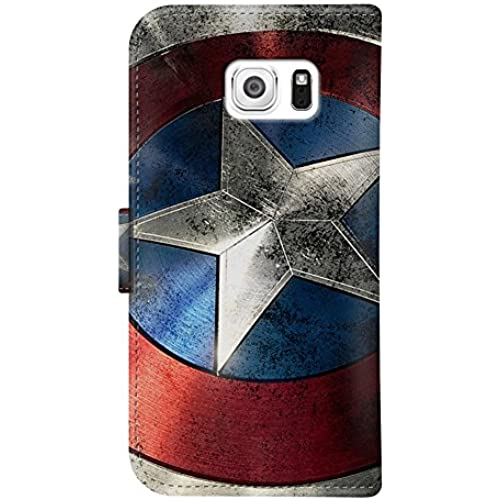 Samsung Galaxy S7 Wallet Case, Onelee - Captain America Premium PU Leather Case Wallet Flip Stand Case Cover for Sales
