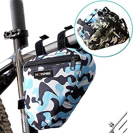 xinzhi Bolsa de tri/ángulo con viga Delantera de Bicicleta Azul Bolsa de tri/ángulo Bolsa de Almacenamiento de Bicicleta Bolsa de Cuadro de Montar Bolsa de Almacenamiento de Bicicleta de monta/ña
