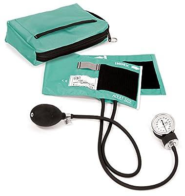 Prestige Medical Premium Aneroid Sphygmomanometer with Carry Case, Aqua Sea