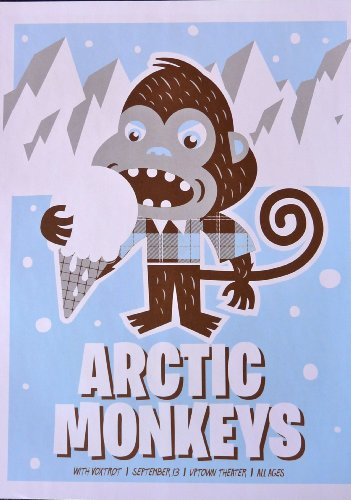 "Arctic monkeys - Live at Meridian - Concert Tour Poster - 10""x14"" - Houston 2008"