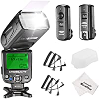 Neewer NW620 Manual Flash Speedlite Kit for Canon Nikon DSLR Cameras,Includes:NW620 GN58 Flash Speedlite,Hard Diffuser,2.4G Wireless Trigger,Microfiber Cleaning Cloth