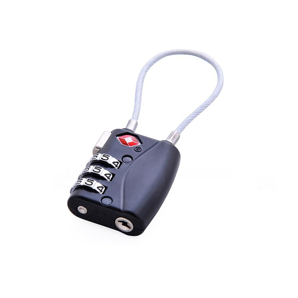 YETOR TSA Luggage Locks 6 Colors3 Digit Combination Durable Heavy Duty Travel Baggage Lock, Padlock and Suitcase Lock (Black) … by YETOR (Image #2)