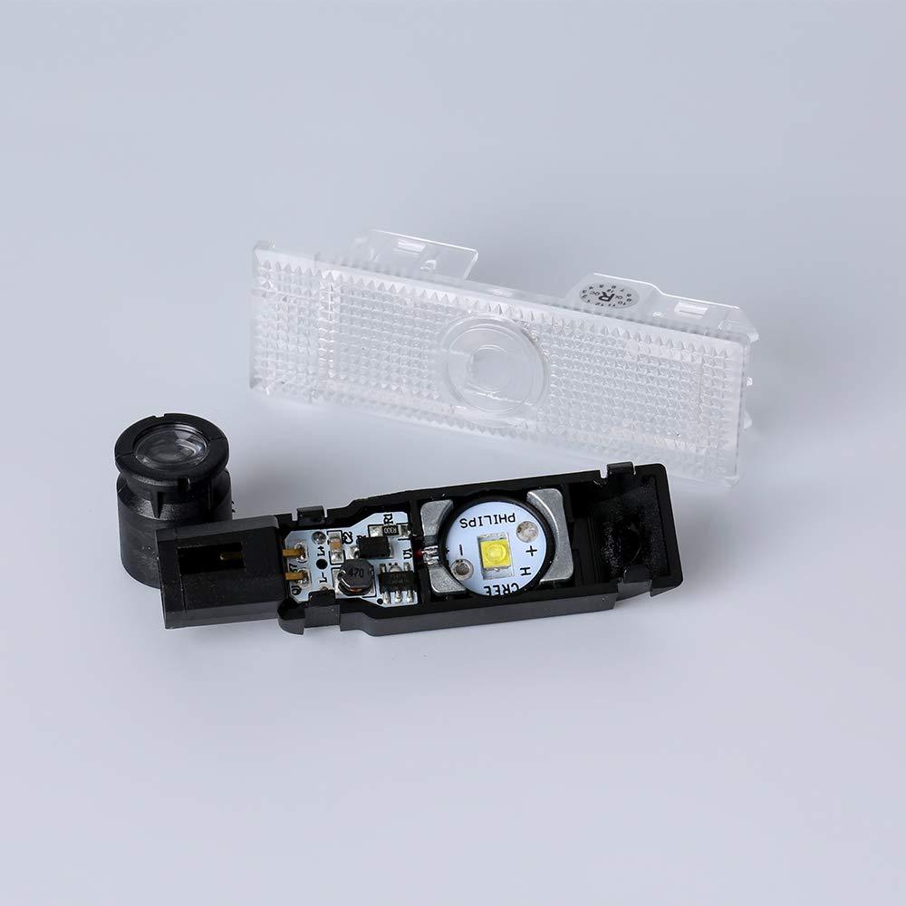 Porte de voiture Logo LED Projector Light Ghost Ombre lumi/ère pour Quattroporte Ghibli GranTurismo Grancabrio Levante Lot de 2/Installation Plug and Play