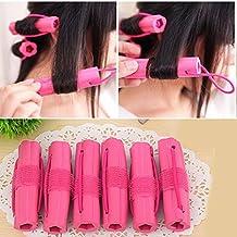 YUNAI 6pcs Soft Sponge Curler Foam Rollers Hair Curler Hair Sticks Hair Styling Tools