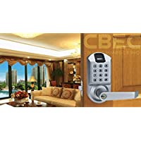 Security Biometric Fingerprint Lock Keyless Keypad Door Lock Satin Chrome