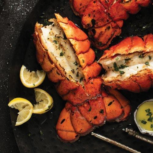 Cooked Lobster Tail (Omaha Steaks Valentine Seafood Dinner)