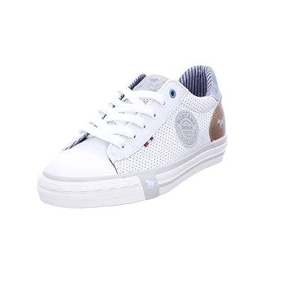 Mustang Kinder 5024305-1 Weiße Textil Sneaker Größe 34 Weiß (Weiss) h8IuR7i