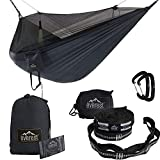 DOUBLE CAMPING HAMMOCK / INTEGRATED BUG-MOSQUITO NET Hammocks are perfect environmentally low impacting chillax shelters as they leave no foot print, our portable hammocks redefine grab-n-go camping. Sleeping out? No need to take bulky tents heavy sl...