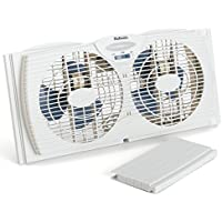 Holmes HAWF2021 Dual Blade Twin Window 7 Inch Fan, White (Pack Of 2)