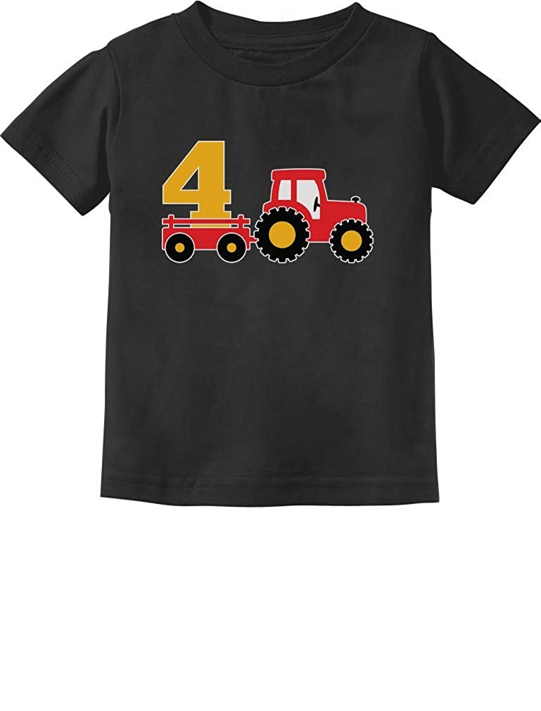 4th Birthday Gift Construction Party 4 Year Old Boy Toddler Infant Kids T