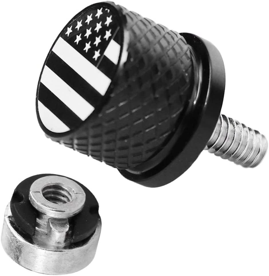 Amazicha Black Stainless Steel Seat Bolt Screw Compatible for Harley Sportster Softail Dyna Touring Road King Street Electra Glide 1996-2020