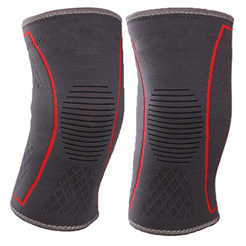 Lam wlq Silicone Sports Kneepads Running Riding Knees Hiking Three-Dimensional Knitted Knee Jacket