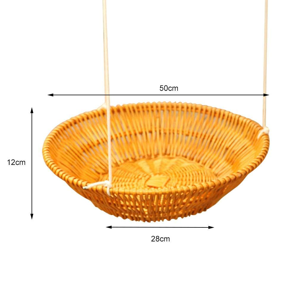 Hammock - Sleeping Nest for Cats - Wicker Swinging Bed with Hemp Rope ,Safe Comfortable Oval Cat Hammock Hanging Bed Breathable Cages by Yunt-11 (Image #7)
