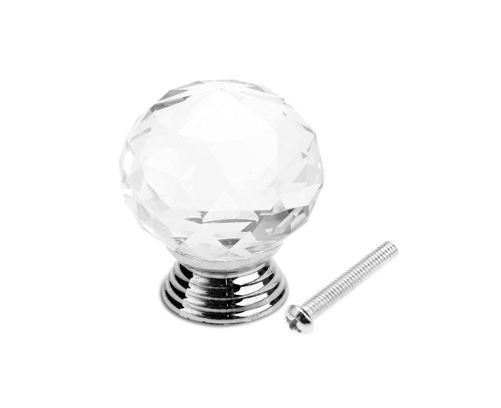 50 mm Maniglia in vetro cristallo per porta // armadio // cassetto // mobile Confezione da 1 Revesun/®