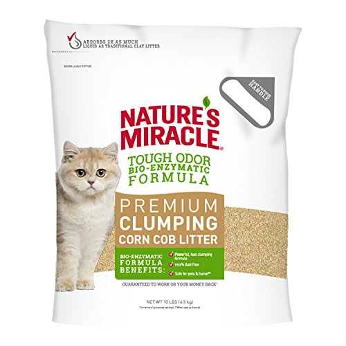 Nature's Miracle Premium Clumping Corn Cob Litter, 10 lb - Corn Cob Litter