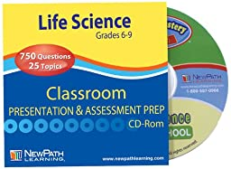 NewPath Learning Middle School Life Science Interactive Whiteboard CD-ROM, Site License, Grade 6-9