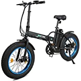 "ECOTRIC 20"" New Fat Tire Folding Electric Bike Beach Snow Bicycle ebike 500W Electric Moped Electric Mountain Bicycles …"