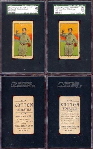 1914 Kotton T216 Regular (Baseball) Card# 24 wild bill donovan of the New York Yankees Fair Condition