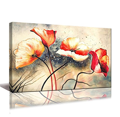 youkuart Canvas wall artHand Painted Canvas Wall Art Flowers Abstract Oil Painting Wall Art Contemporary Canvas Wall Decor for Living Room yh9a-5710