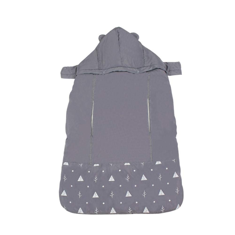 PER Universal Fleece Baby Carrier Cover Lovely Ear Hoodie with Hand Warmer Pocket Waterproof Windproof Warm Cloak for Winter Autumn Spring