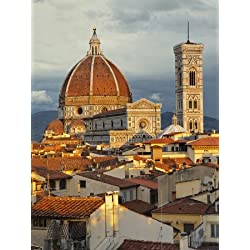 Duomo, Florence Cathedral at Sunset, Basilica of Saint Mary of the Flower, Florence, Italy Photographic Poster Print by Adam Jones, 18x24