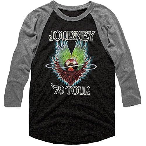 American Classics Journey 1979 Vintage Black Premium Heather Adult 3/4 Sleeve Raglan T-Shirt Tee