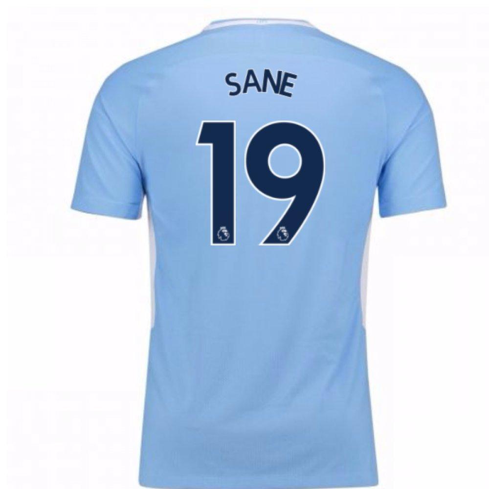 2017-18 Man City Home Football Soccer T-Shirt Trikot - Kids (Leroy Sane 19)