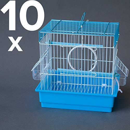 10 Set Bird Cage for Small Bird Canary Finch Budgie