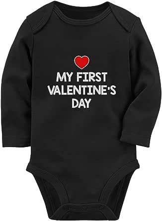 Infant Fine Jersey Valentine\u2019s Day Bodysuit Baby\u2019s First Valentine\u2019s Day tee Kids Valentine\u2019s Day Shirt