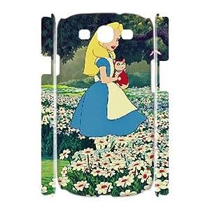 3D Yearinspace Alice in Wonderland Samsung Galaxy S3 Case Alice in Wonderland Flower Field, Unique Alice in Wonderland, {White}