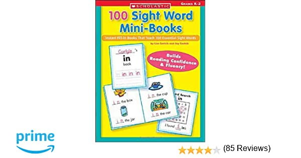Amazon.com: 100 Sight Word Mini-Books: Instant Fill-in Mini-Books ...